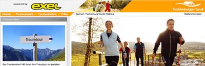 Nordic Walking Park mit 400 km ausgewiesener Routen